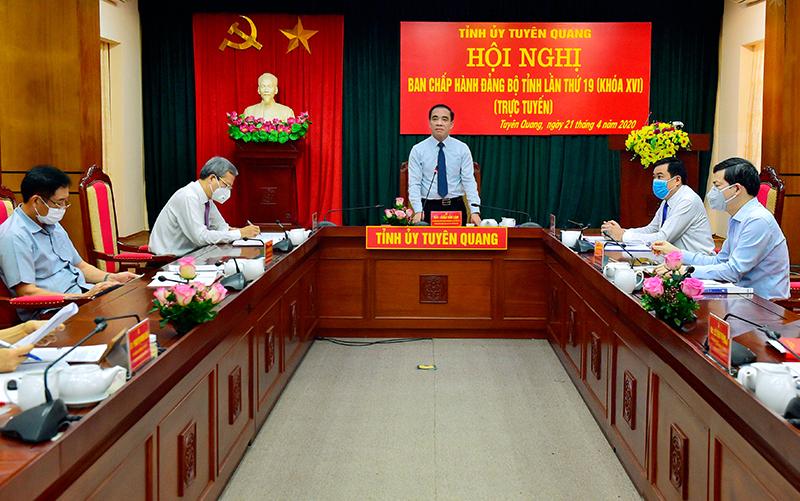 Hội nghị Ban Chấp hành Đảng bộ tỉnh lần thứ 19